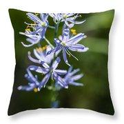 Beautiful Camas Lily In Idaho Throw Pillow