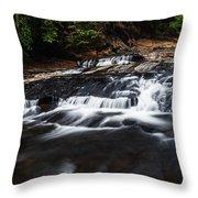 Beautiful Cascade In Western Ghats In Karnataka India Throw Pillow