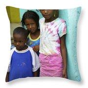 Beautiful Children Throw Pillow