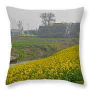 Beautiful China's Rural Scenery Throw Pillow