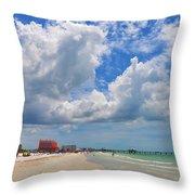 Beautiful Clearwater Beach Throw Pillow