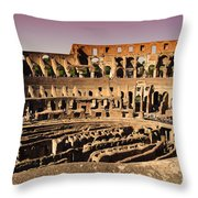 Beautiful Colosseum Rome Throw Pillow