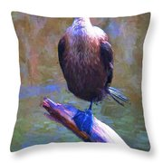 Beautiful Cormorant Throw Pillow