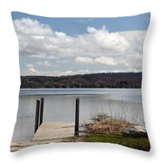 Beautiful Day At The Lake Throw Pillow