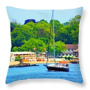 Beautiful Day For Sailing Throw Pillow