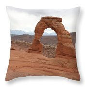 Beautiful Delicate Arch Throw Pillow