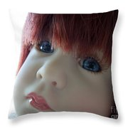Beautiful Doll Throw Pillow by Renee Trenholm