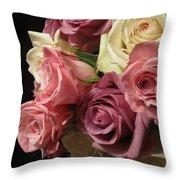 Beautiful Dramatic Roses Throw Pillow