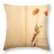 Beautiful Dried Vintage Flowers Throw Pillow