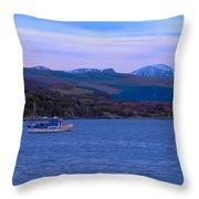 Beautiful Evening At Ullapool Throw Pillow
