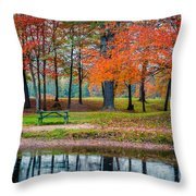 Beautiful Fall Foliage In New Hampshire Throw Pillow