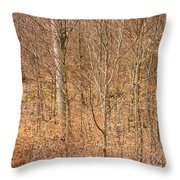 Beautiful Fine Structure Of Trees Brown And Orange Throw Pillow