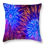 Beautiful Fireworks 10 Throw Pillow