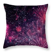 Beautiful Fireworks 12 Throw Pillow
