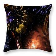 Beautiful Fireworks 5 Throw Pillow