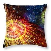 Beautiful Fireworks 8 Throw Pillow