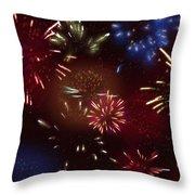 Beautiful Fireworks 9 Throw Pillow