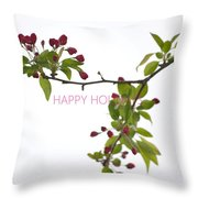 Beautiful Floral Greetings Throw Pillow
