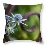 Beautiful Flower Buds Throw Pillow