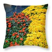 Beautiful Flower Garden Bellagio Las Vegas Throw Pillow