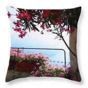 Beautiful Flowers Of Ravello Italy Throw Pillow