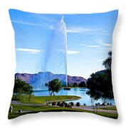 Beautiful Fountain Throw Pillow