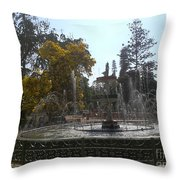 Beautiful Fountain In Lal Bagh Throw Pillow