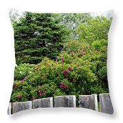 Beautiful Front Yard - Roses - Trees Throw Pillow