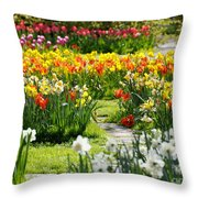 Beautiful Garden Throw Pillow