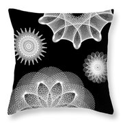 Beautiful Geometry Bw Throw Pillow