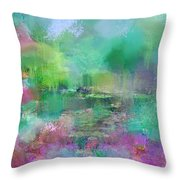 Beautiful Giverny Throw Pillow