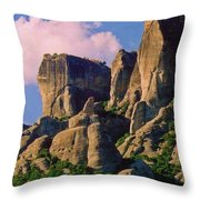 Beautiful Greece Landscape Throw Pillow