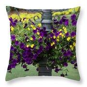 Beautiful Hanging Flowers Throw Pillow