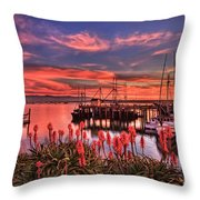 Beautiful Harbor Throw Pillow
