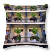 Beautiful Hotel In New Orleans Throw Pillow
