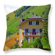 Beautiful House In Mont Blanc Throw Pillow