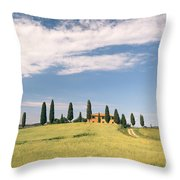 Beautiful House In Val D'orcia - Tuscany - Italy Throw Pillow