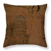 Beautiful Imperial Consort Yang Yuhuan Throw Pillow