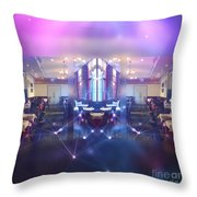 Beautiful Interiors Of A French Restaurant Throw Pillow