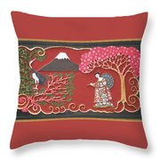 Beautiful Japan Throw Pillow by Otil Rotcod