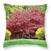 Beautiful Japanese Maple Throw Pillow