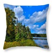 Beautiful Lake Abanakee - Indian Lake New York Throw Pillow by David Patterson