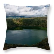 Beautiful Lake Guatavita Throw Pillow