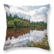 Beautiful Lake Reflections Throw Pillow