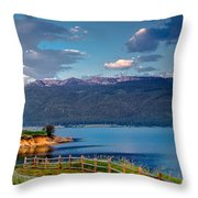 Beautiful Lake View Throw Pillow