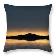 Beautiful Landscape Seascape Vibrant Sunset Throw Pillow