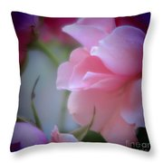 Beautiful Lavender And Purple Roses Throw Pillow