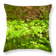 Beautiful Lush Green Nature Background Throw Pillow