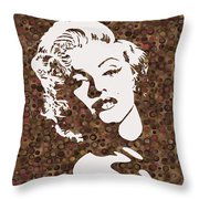 Beautiful Marilyn Monroe Digital Artwork Throw Pillow