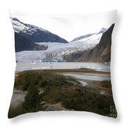 Beautiful Mendenhall Glacier Throw Pillow